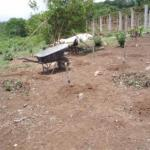 Wheelbarrow and materials for building