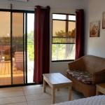 Den area in a suite